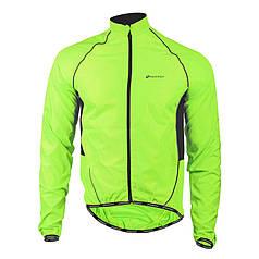Вітровка велосипедна Nuckily MJ004 Green Fluorescent S куртка осінь-весна