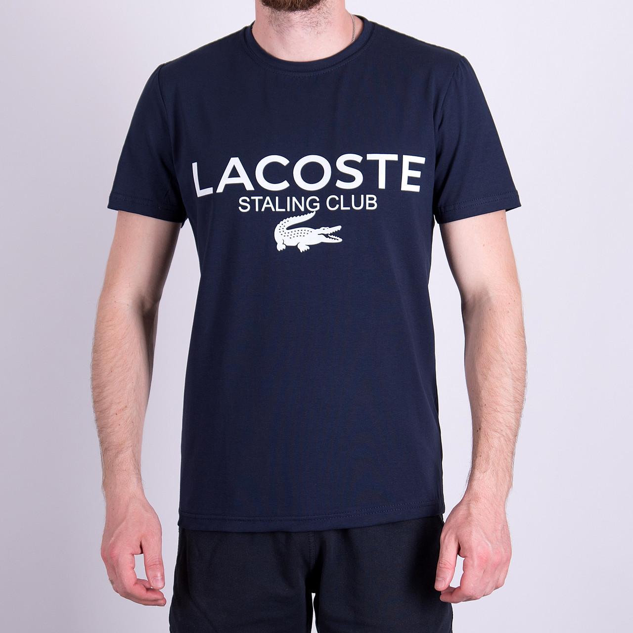 Чоловіча футболка LACOSTE, темно-синього кольору
