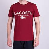 Чоловіча футболка LACOSTE, чорного кольору, фото 3