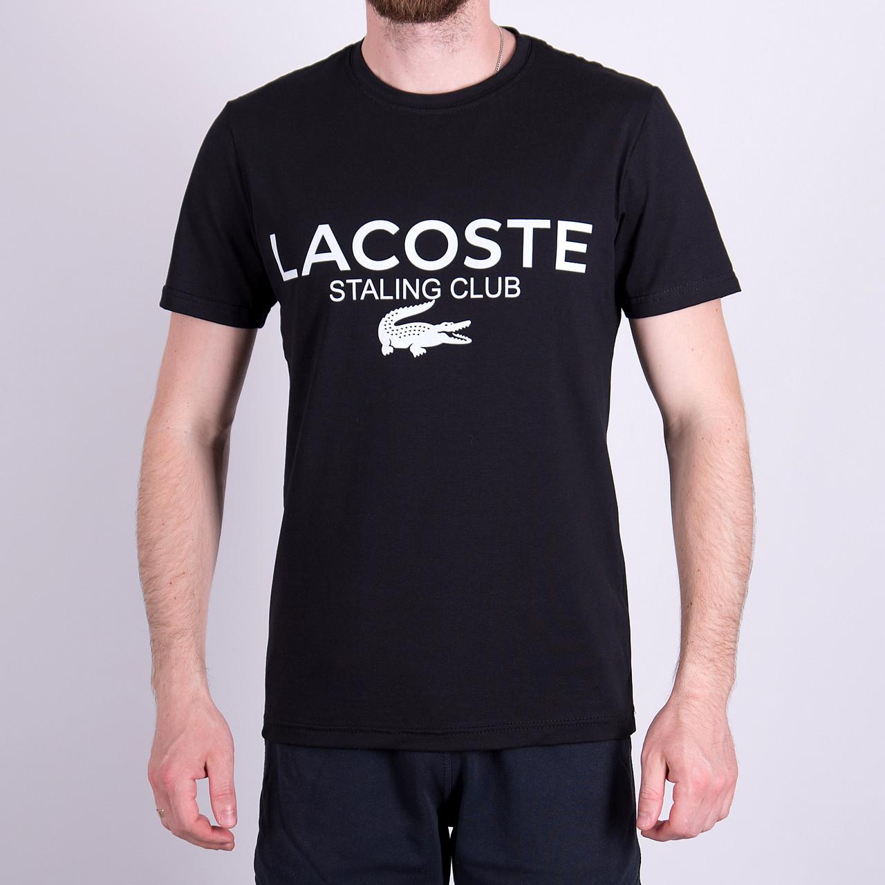 Чоловіча футболка LACOSTE, чорного кольору