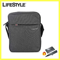 Мужская сумка (мессенджер) Tigernu Grey / Сумка барсетка + Подарок