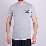 Чоловіча футболка Adidas, оливкового кольору, фото 4