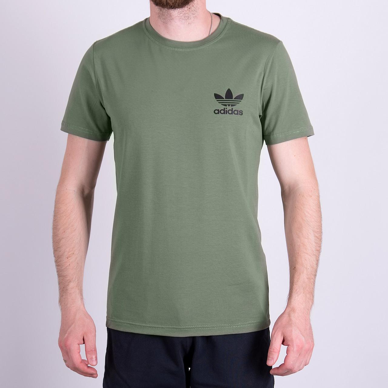 Чоловіча футболка Adidas, оливкового кольору