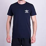 Чоловіча футболка Adidas, оливкового кольору, фото 5
