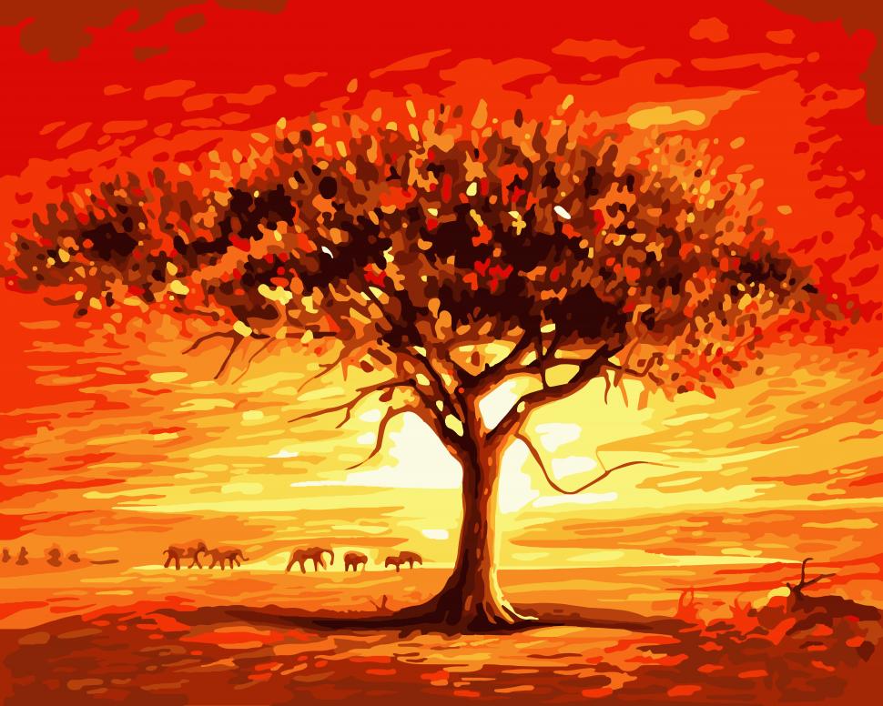 """Картина по номерам. Art Craft """"Золотое солнце Африки"""" 40*50 см 10507-AC"""