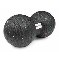 Массажный мяч двойной EPP 80 мм HS-P080DMB для расслабления и восстановления мышц