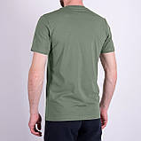 Чоловіча футболка Adidas, оливкового кольору, фото 2