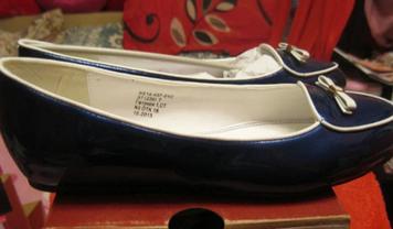 Туфли балетки женские синие лаковые небольшая платформа 37р