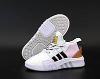 """Кроссовки женские Adidas EQT """"Белые с розовым"""" высокие адидас р. 36-40"""