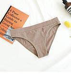 Комплект жіночої нижньої білизни. Набір бавовняний з ліфа і трусиків, розмір L (кавовий), фото 4