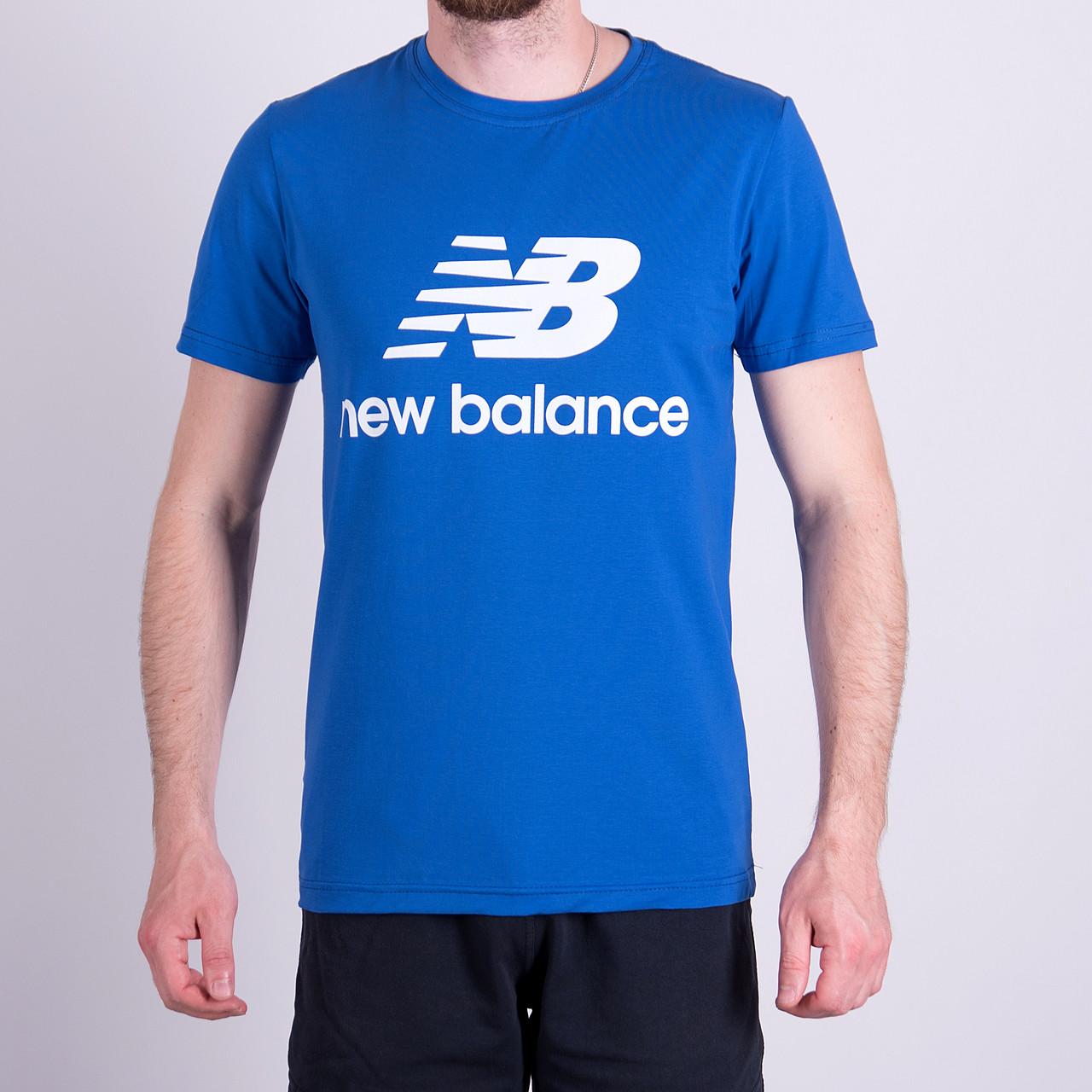 Чоловіча футболка NEW BALANCE, синього кольору