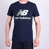 Чоловіча футболка NEW BALANCE, синього кольору, фото 6