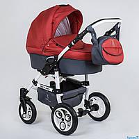 Детская коляска 2 в 1 универсальная комбинированная, детская коляска-трансформер Saturn красный  ОПТ