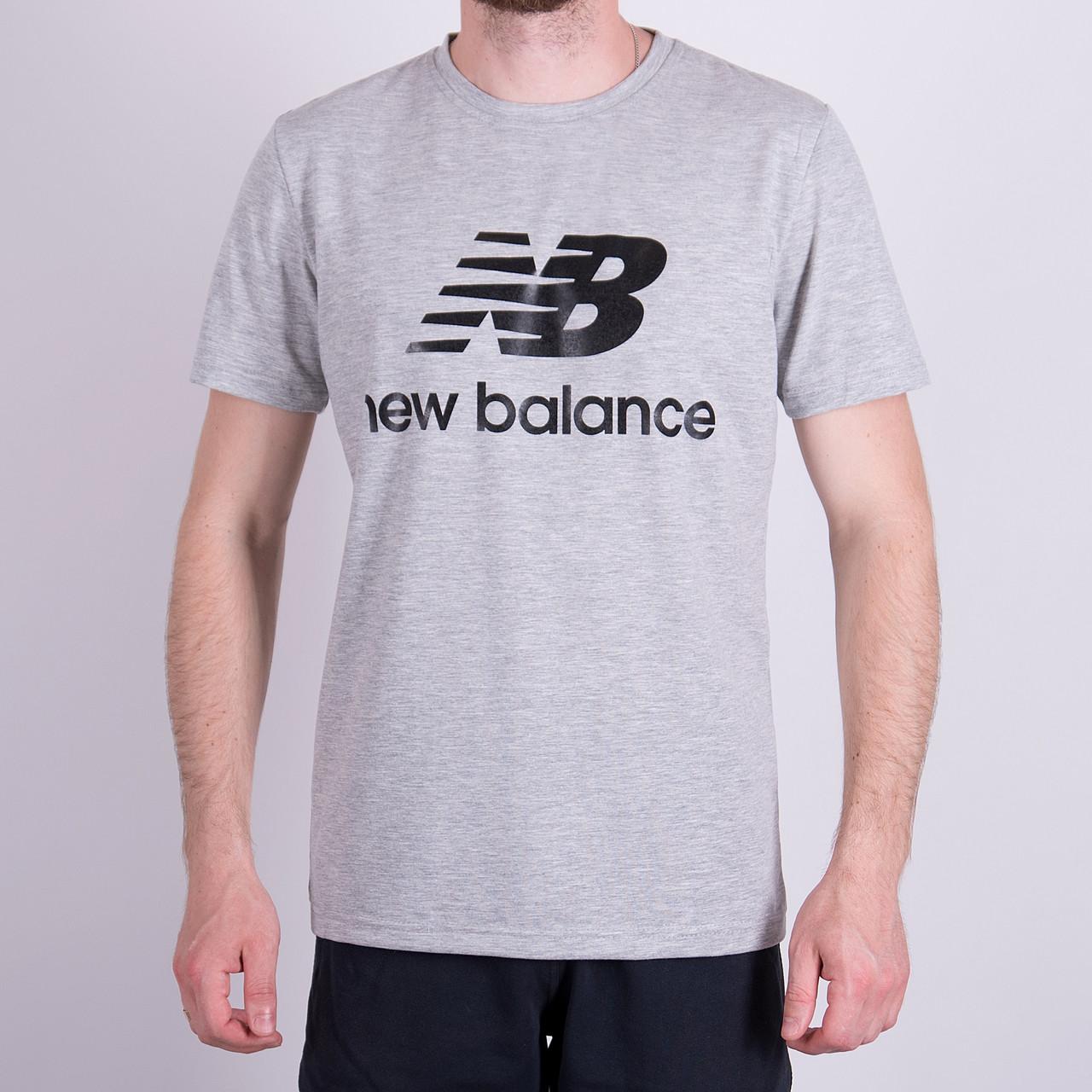 Чоловіча футболка NEW BALANCE, сірого кольору