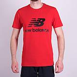 Чоловіча футболка NEW BALANCE, кольору бордо, фото 3