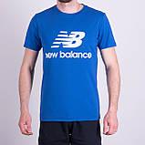 Чоловіча футболка NEW BALANCE, кольору бордо, фото 4