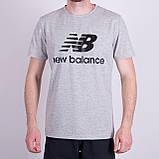 Чоловіча футболка NEW BALANCE, кольору бордо, фото 5