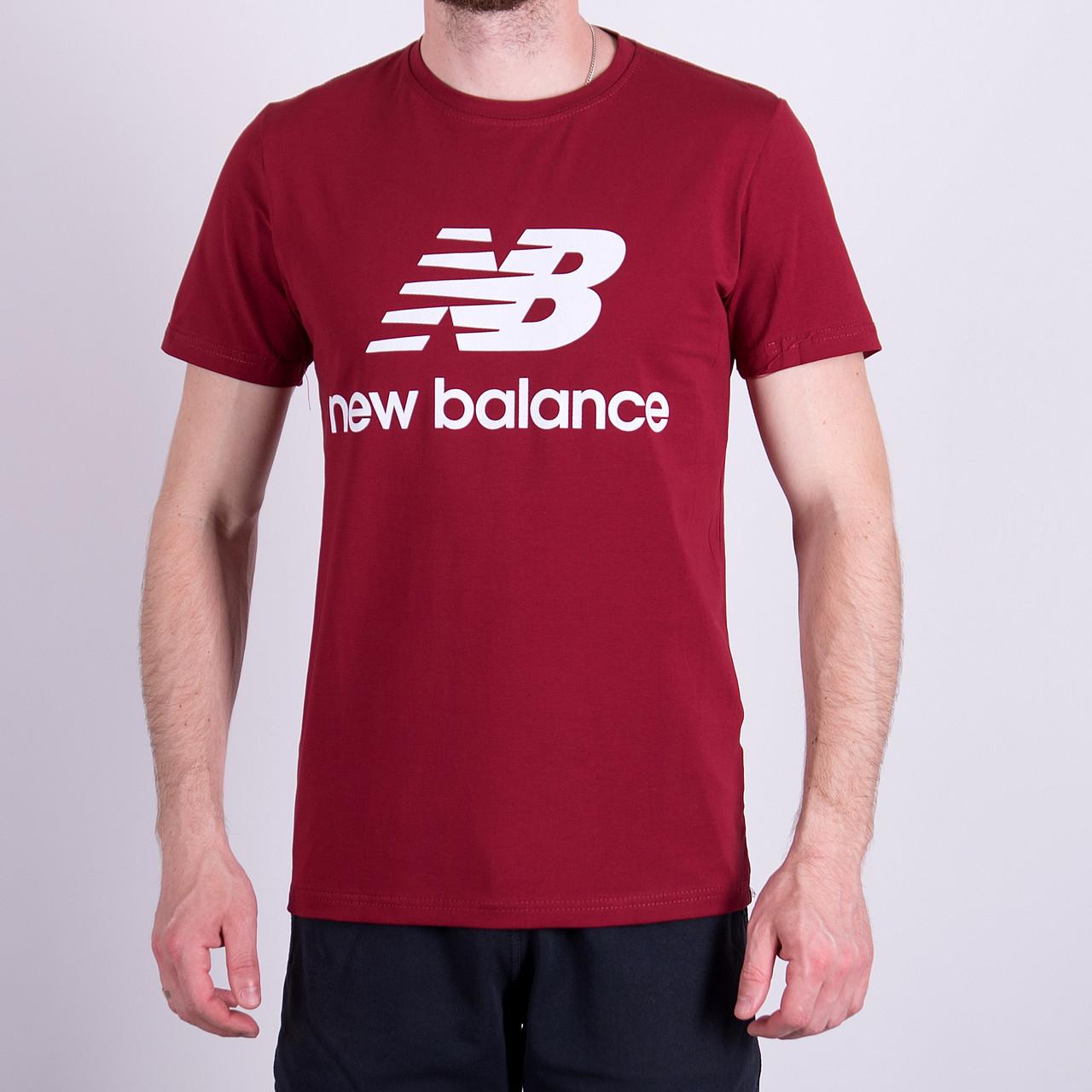 Чоловіча футболка NEW BALANCE, кольору бордо