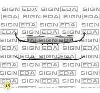 Спойлер заднего бампера Ford Edge '15- (Signeda)