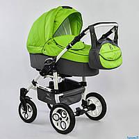Детская коляска 2 в 1 универсальная комбинированная, детская коляска-трансформер Saturn салатовый  ОПТ