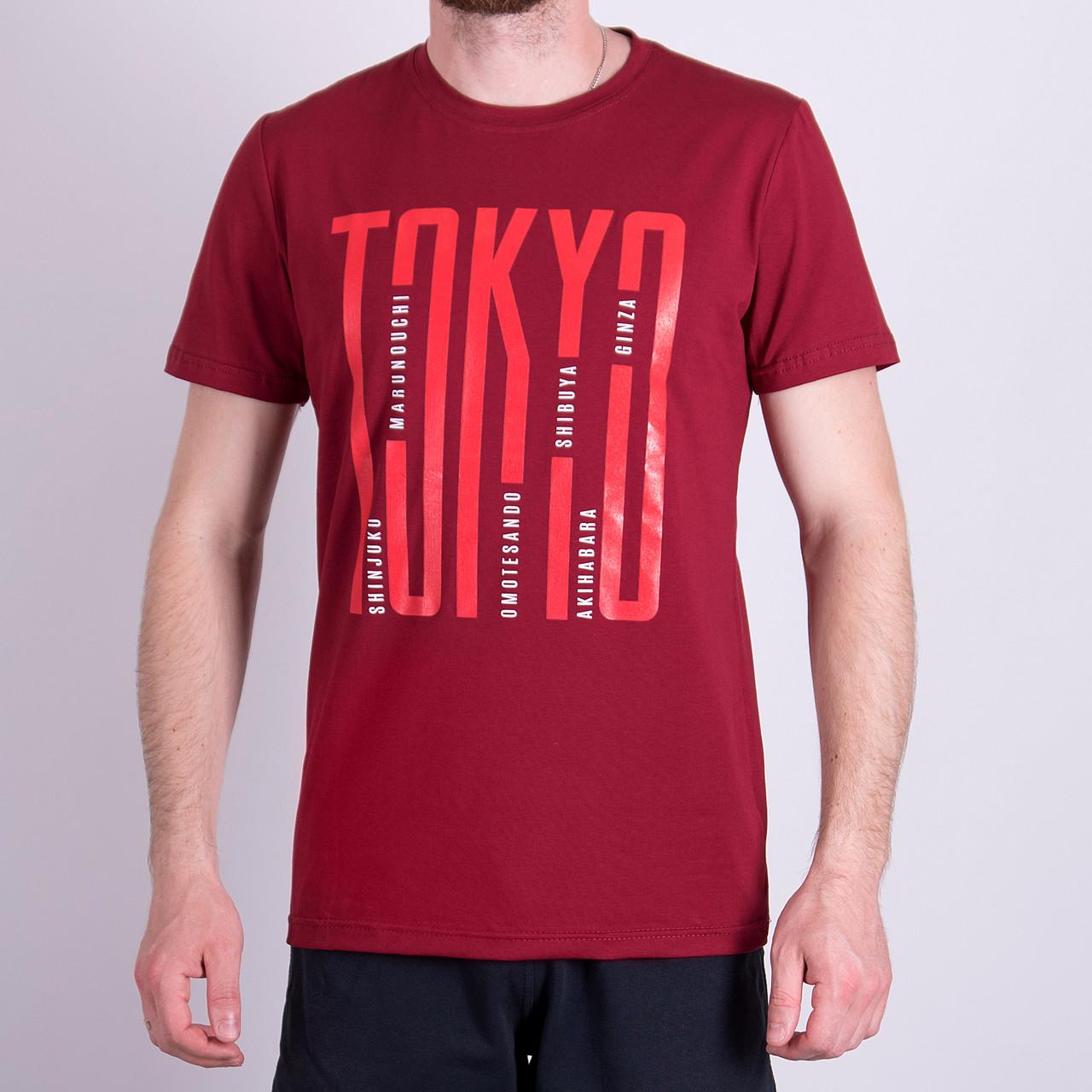 Чоловіча футболка, кольору бордо