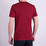 Чоловіча футболка, кольору бордо, фото 2