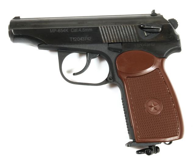розібраний пневматичний пістолет мр 654К