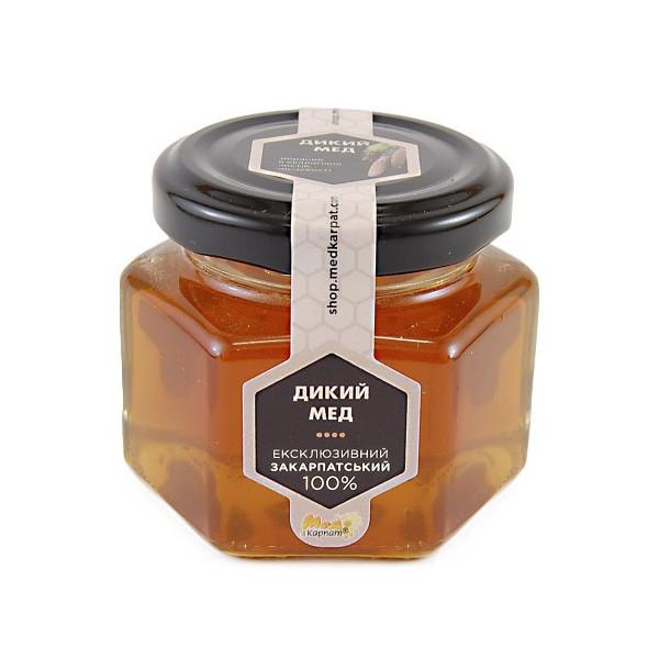 """Мед бджолиний натуральний, сорт: """"Дикий мед"""" 120г"""