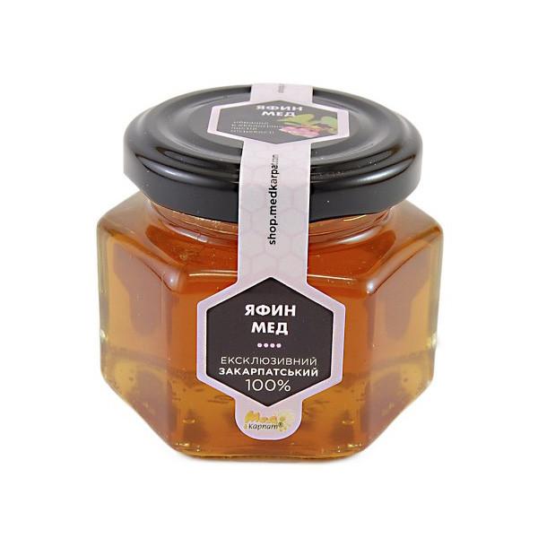 """Мед бджолиний натуральний, сорт: """"Яфин мед"""" 120г"""