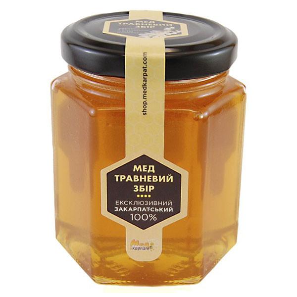 """Мед бджолиний натуральний, сорт: """"Травневий збір"""" 240г"""