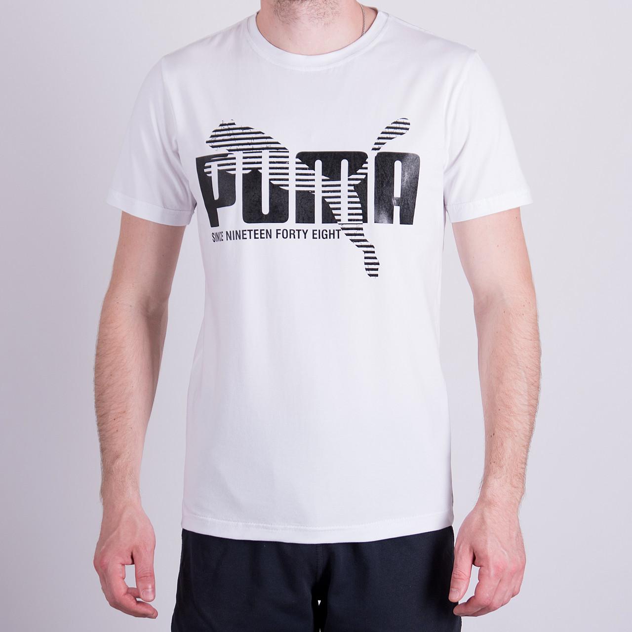 Чоловіча футболка Puma, білого кольору