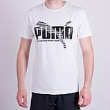 Чоловіча футболка Puma, кольору бордо, фото 5