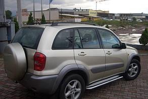 Боковые подножки, площадки Toyota Rav 4 (Premium)