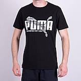 Чоловіча футболка Puma, темно-синього кольору, фото 3