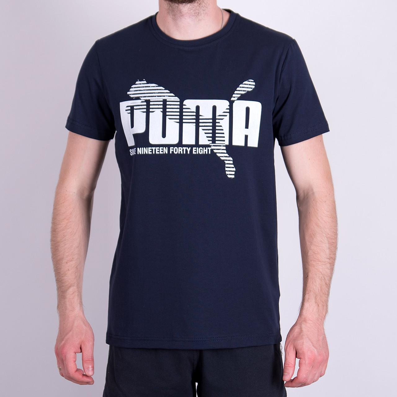 Чоловіча футболка Puma, темно-синього кольору