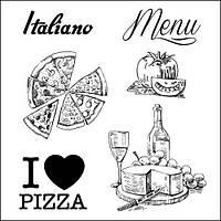 """Набор штампов """"Итальянские каникулы. Итальянский ресторанчик"""" 10,5*10,5 Scrapberries 4904014b"""