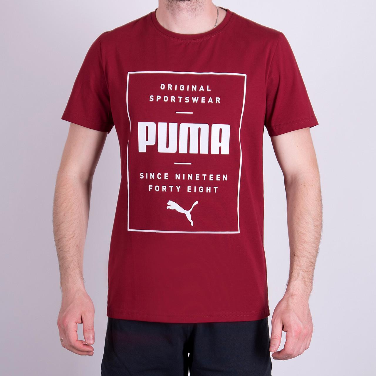 Чоловіча футболка Puma, кольору бордо