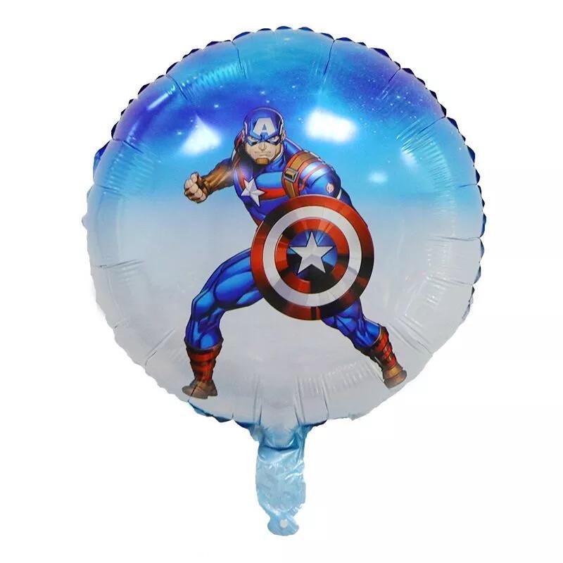 Фольгований куля круглий месники марвел супергерої капітан америка 45 см