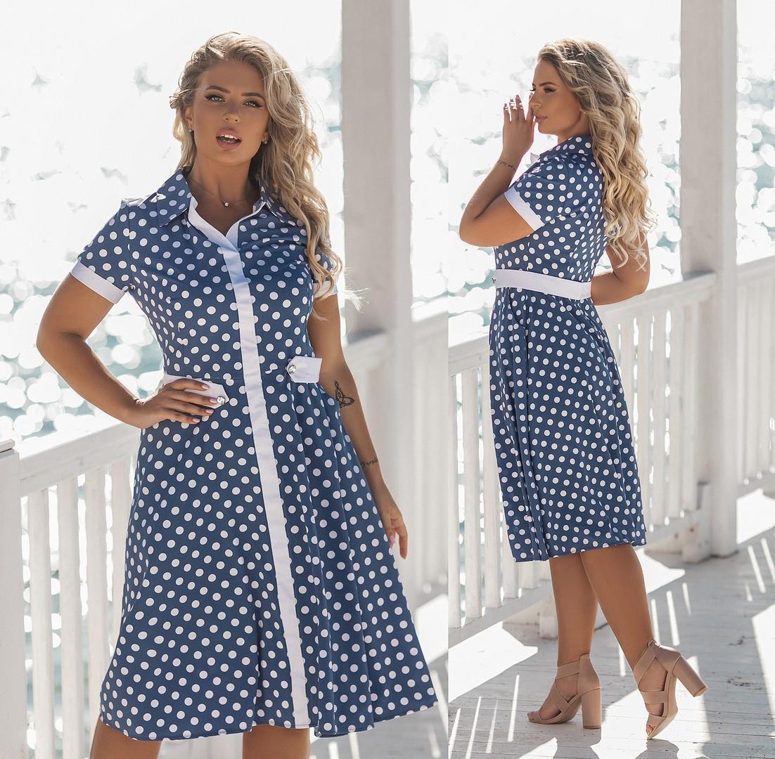Модное летнее платье большого размера.Размеры:48/50/52/54.+Цвета