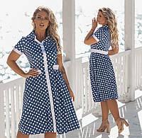 Модное летнее платье большого размера.Размеры:48/50/52/54.+Цвета, фото 1