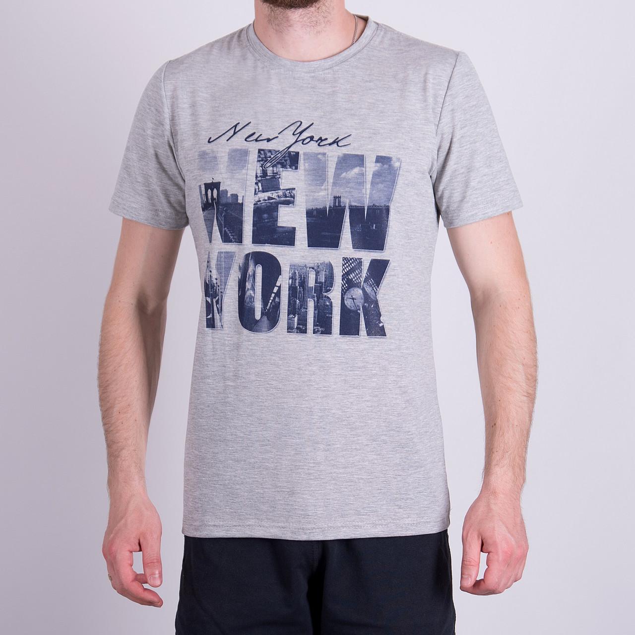 Чоловіча футболка, сірого кольору