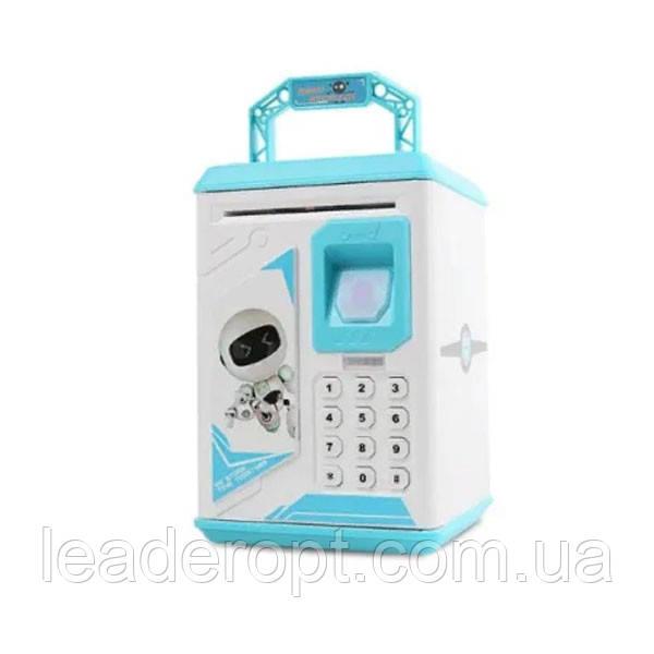 ОПТ Дитяча електронна скарбничка сейф з кодовим замком і відбитком пальця ROBOT BODYGUARD