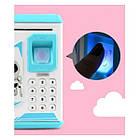 ОПТ Дитяча електронна скарбничка сейф з кодовим замком і відбитком пальця ROBOT BODYGUARD, фото 3