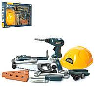 Набор инструментов 3288-E3 (24шт) шуруповерт(механич), каска, пила, молоток, в кор-ке, 52-36-6,5см