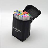 Набор маркеров двухсторонних белый корпус 24цв ST00872 Touch для рисования и скетчинга на спиртовой основе