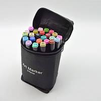 Набор маркеров двухсторонних черный корпус 24цв ST00875 Touch для рисования и скетчинга на спиртовой основе
