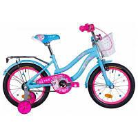 """Детский велосипед Formula 16"""" FLOWER рама-10"""" St 2020 голубой с багажником (OPS-FRK-16-113)"""