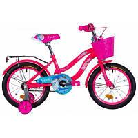 """Детский велосипед Formula 16"""" FLOWER рама-10"""" St 2020 розовый с голубым с багажником (OPS-FRK-16-110)"""