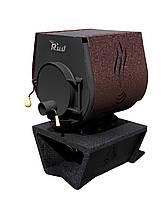 Отопительная конвекционная печь Rud Pyrotron Кантри 01 с варочной поверхностью (отапливаемая площадь 80 кв.м. Обшивка декоративная (коричневая)