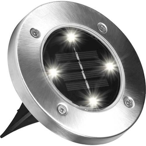 Уличный светильник садовый на солнечной батарее Solar Disk Lights